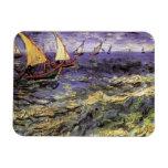 Paisaje marino de Van Gogh en Saintes Maries, arte Imanes De Vinilo