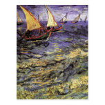 Paisaje marino de Van Gogh en Saintes Maries, arte Postal