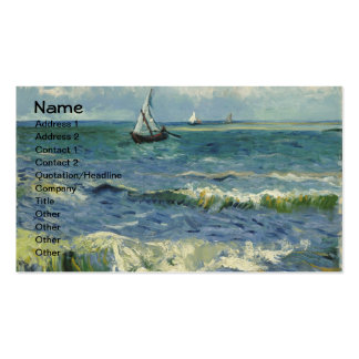 Paisaje marino de Van Gogh en Saintes-Maries (F415 Tarjeta Personal