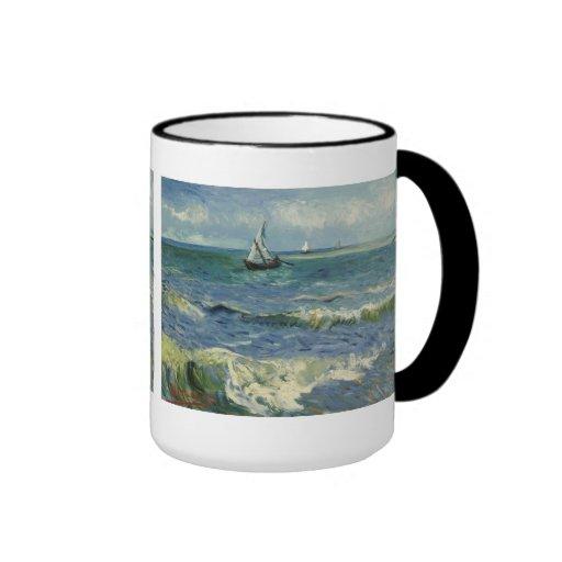 Paisaje marino de Van Gogh en Saintes-Maries (F415 Taza