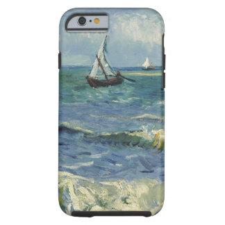 Paisaje marino de Vincent van Gogh en Saintes Funda Para iPhone 6 Tough