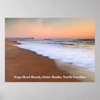 Paisaje marino del amanecer en la playa principal  impresiones
