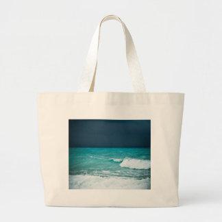 Paisaje marino del mún tiempo bolsas de mano