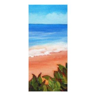 Paisaje marino diseño de tarjeta publicitaria