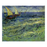 Paisaje marino en Saintes Maries de Vincent van Go Impresiones