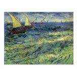 Paisaje marino en Saintes Maries de Vincent van Go Tarjetas Postales