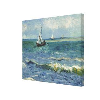 Paisaje marino en Saintes-Maries de Vincent van Impresiones En Lienzo Estiradas