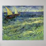 Paisaje marino en Saintes Maries de Vincent van Póster