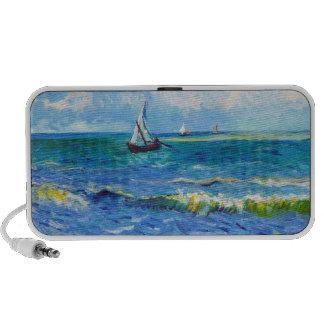 Paisaje marino en Saintes-Maries Vincent van Gogh Notebook Altavoces