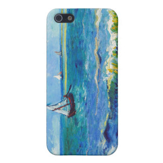 Paisaje marino en Saintes-Maries Vincent van Gogh iPhone 5 Cárcasas