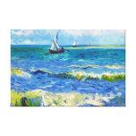 Paisaje marino en Saintes-Maries Vincent van Gogh Lienzo Envuelto Para Galerías