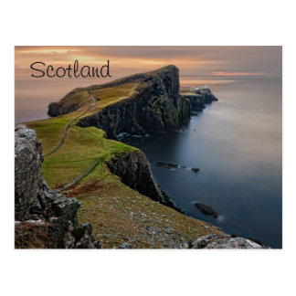 Paisaje marino escénico de Escocia Postales