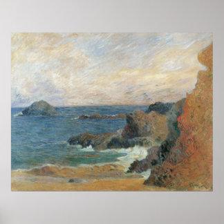 Paisaje marino - Gauguin 1886 Poster