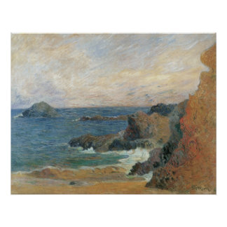 Paisaje marino - Gauguin 1886 Póster