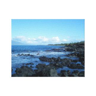Paisaje marino hawaiano impresiones en lona