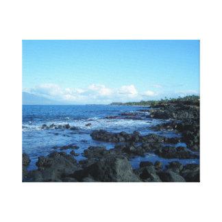 Paisaje marino hawaiano lona estirada galerías