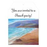 Paisaje marino invitación 12,7 x 17,8 cm