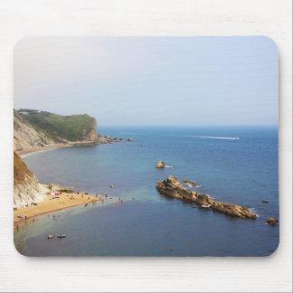 Paisaje marino jurásico de la costa tapetes de ratones