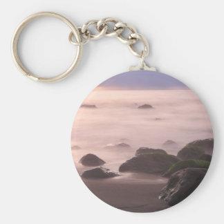 Paisaje marino llavero redondo tipo pin
