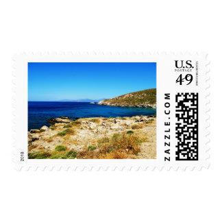 Paisaje marino - Mykonos, Grecia Timbre Postal