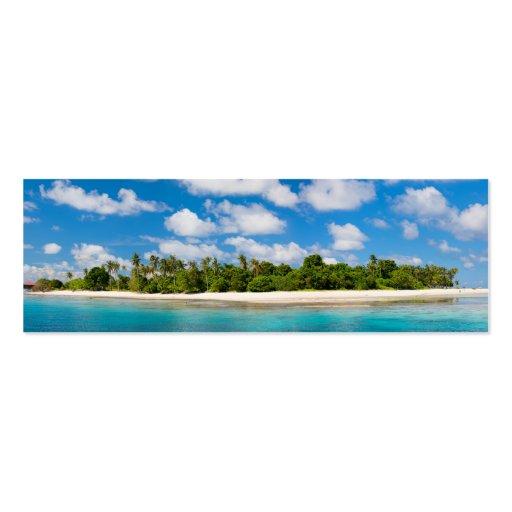 Paisaje marino panorámico tarjetas de visita mini