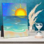 Paisaje marino placas para mostrar