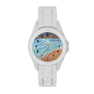 Paisaje marino relojes de pulsera