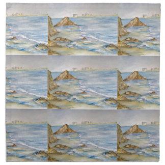 Paisaje marino servilletas de papel