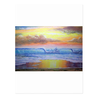 Paisaje marino soleado tropical postal