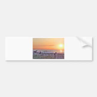 Paisaje marino Sun Oceanview de la salida del sol  Pegatina De Parachoque