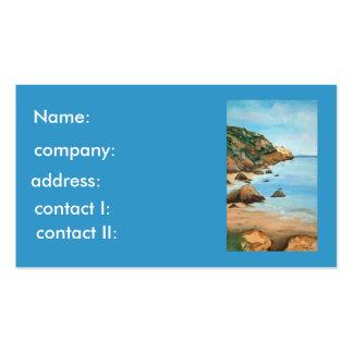 Paisaje marino tarjeta de visita