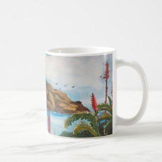 Paisaje marino taza
