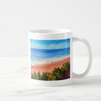 Paisaje marino taza de café