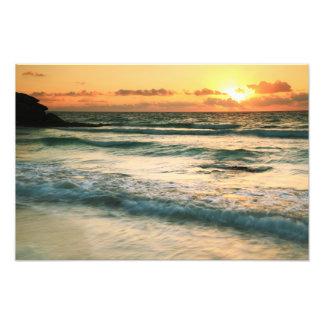 Paisaje marino Tulum México de la salida del sol Foto