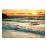 Paisaje marino Tulum México de la salida del sol Fotografía