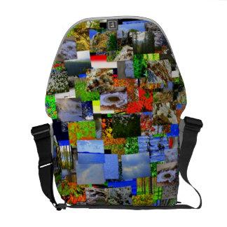 Paisaje mental de la bolsa de mensajero media bolsa de mensajería