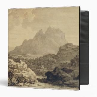 Paisaje montañoso, c.1780 (gris y lavado del marró