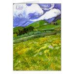 Paisaje montañoso de Van Gogh Tarjeta