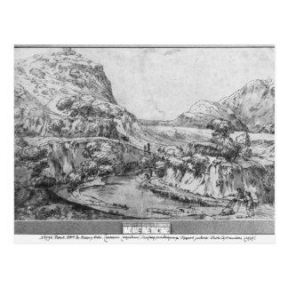 Paisaje montañoso tarjeta postal