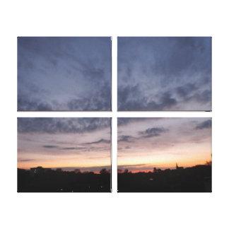 paisaje multi de la puesta del sol de la lona, lona estirada galerias