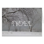 Paisaje/navidad del invierno NOEL-Nevado Tarjetas