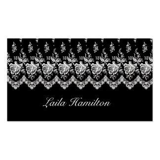 Paisaje (negro) color de rosa de la tarjeta de vis tarjetas de visita
