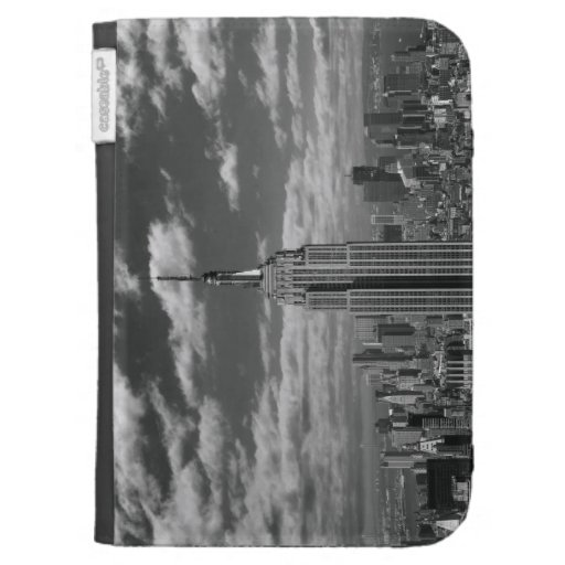 Paisaje negro y blanco del horizonte de New York C