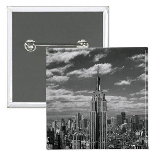 Paisaje negro y blanco del horizonte de New York C Pin