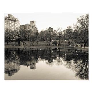 Paisaje negro y blanco en Central Park Fotografías