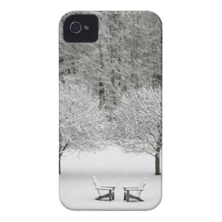 Paisaje nevado iPhone 4 Case-Mate protectores