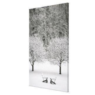 Paisaje nevado impresión en lona estirada