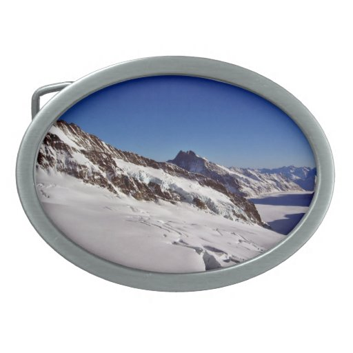 Paisaje Nevado y cielos azules Hebillas Cinturon