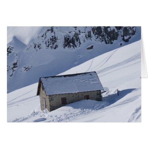 paisaje nevoso felicitaciones