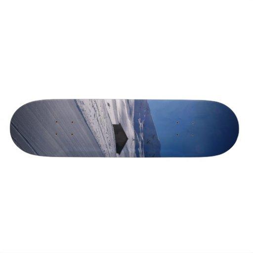 paisaje nevoso tablas de patinar